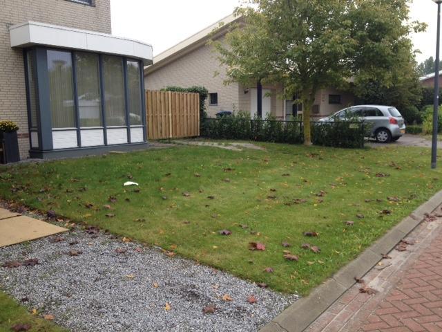 Vaak oprit en zijpad opnieuw bestraten+ gras vervangen door grind KQ74