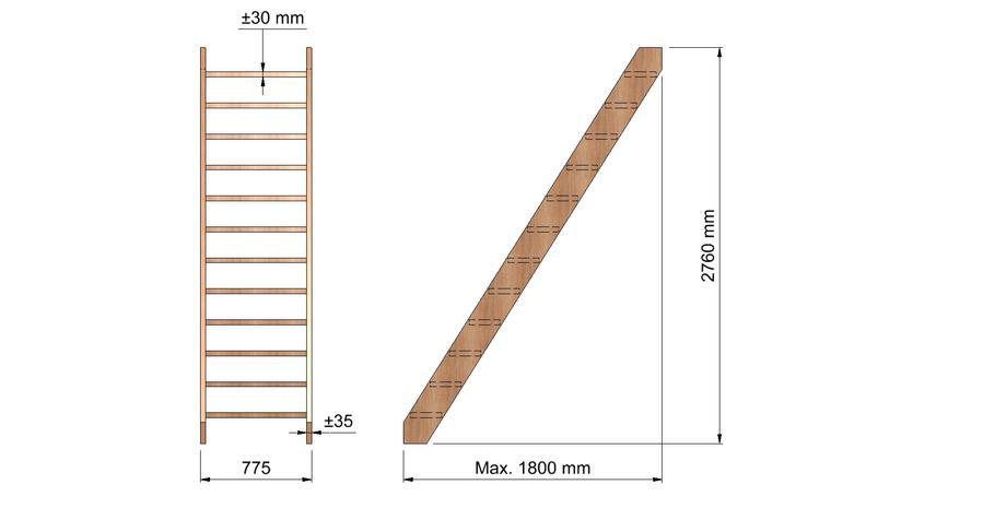 Steile trap vuren hout werkspot for Vurenhouten steektrap