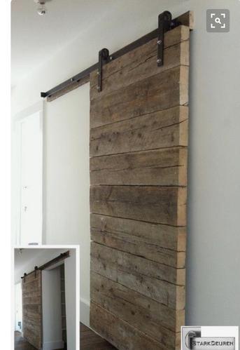 Bedwelming Steiger) houten schuifdeur maken op stalen ophangsysteem keuken @MV86