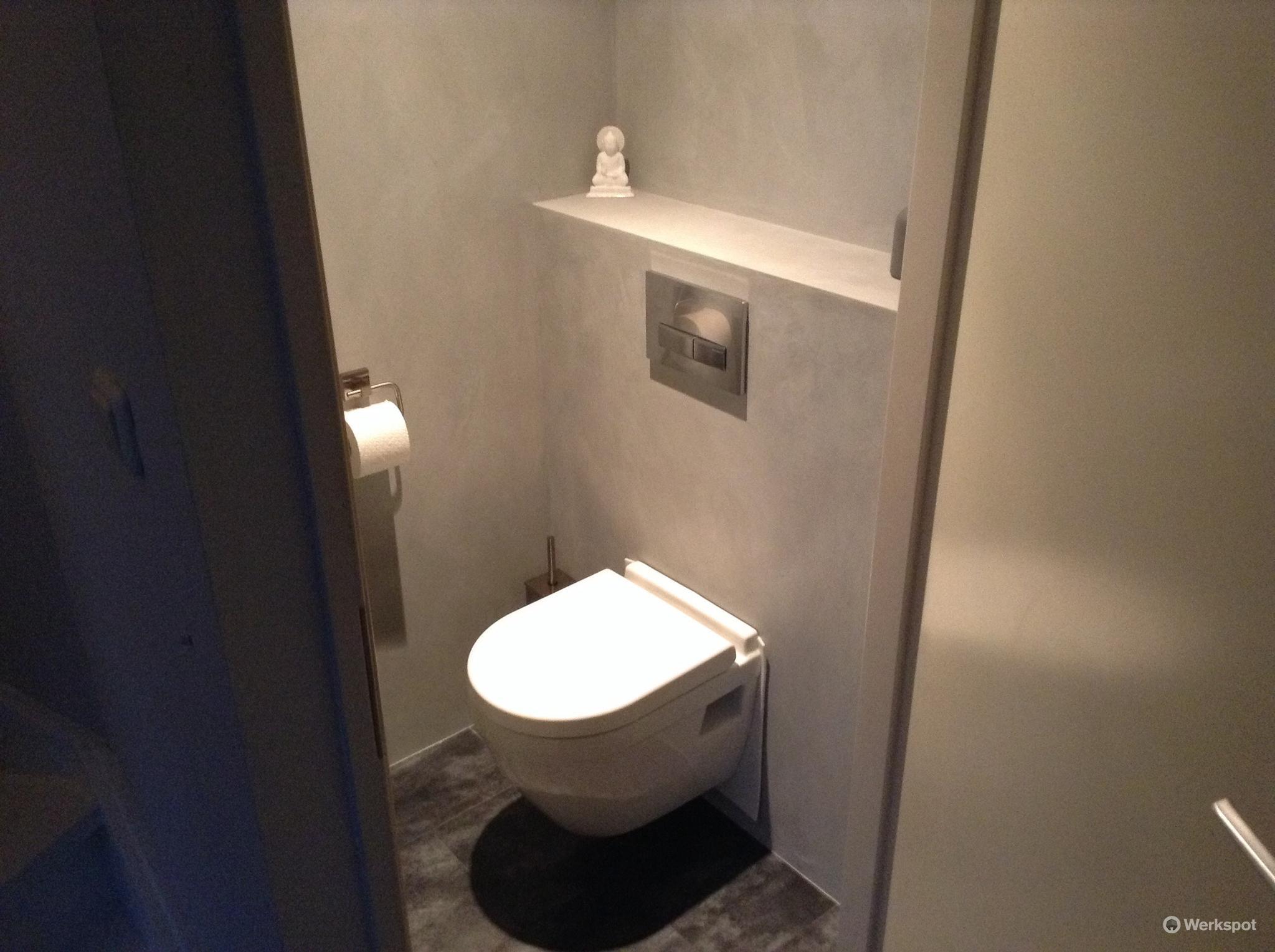 Beton cire toilet werkspot