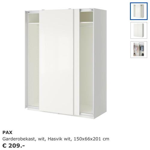 Pax Garderobekast Wit.Ophalen Ikea Pax Kast Monteren Werkspot