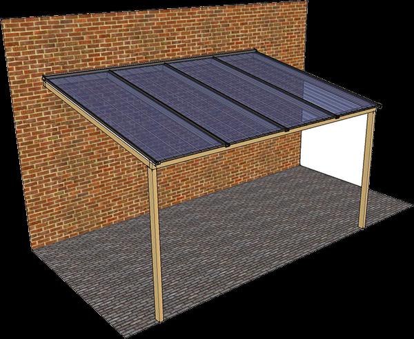 Afdak aan het huis ten behoeve van overdekt terras werkspot for Huis hypotheekvrij maken