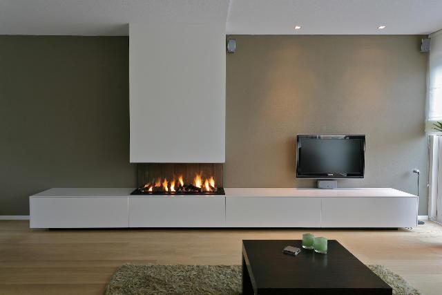 Tv meubel met openhaard werkspot for Modern tv meubel design