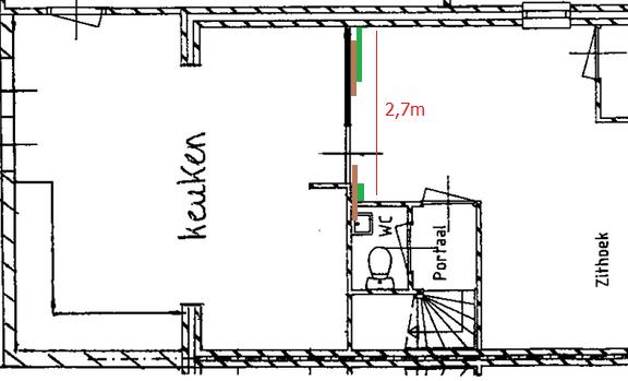 het plaatsen van dubbele schuifdeuren tussen woonkamer en keuken, Deco ideeën