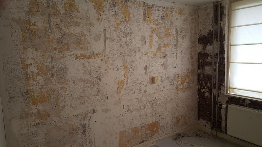glasvezelbehang verven en licht muurherstel 25 m2 werkspot