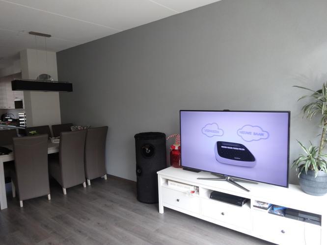 Welke kleur grijs op de muur for Welke muur verven woonkamer