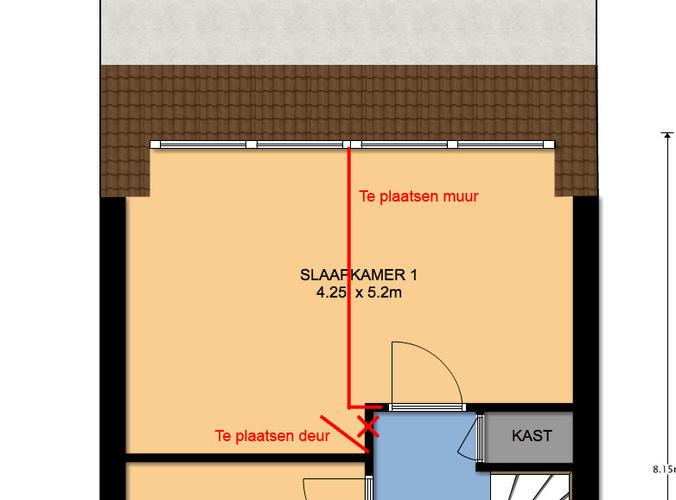 Slaapkamer splitsen in 2 kamers - Werkspot