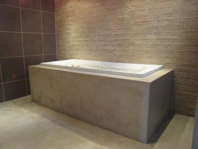 Voorkeur Mortex Betoncire Betonlook waterdichte afwerking badkamers en DM55