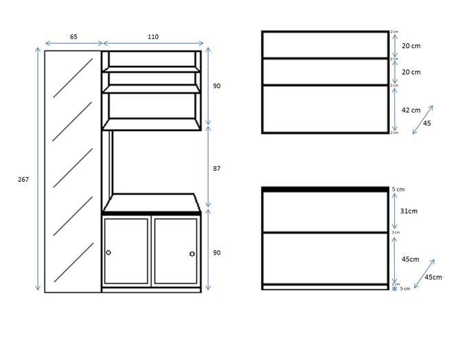 Boeken keuken kast werkspot for Standaard trap afmetingen