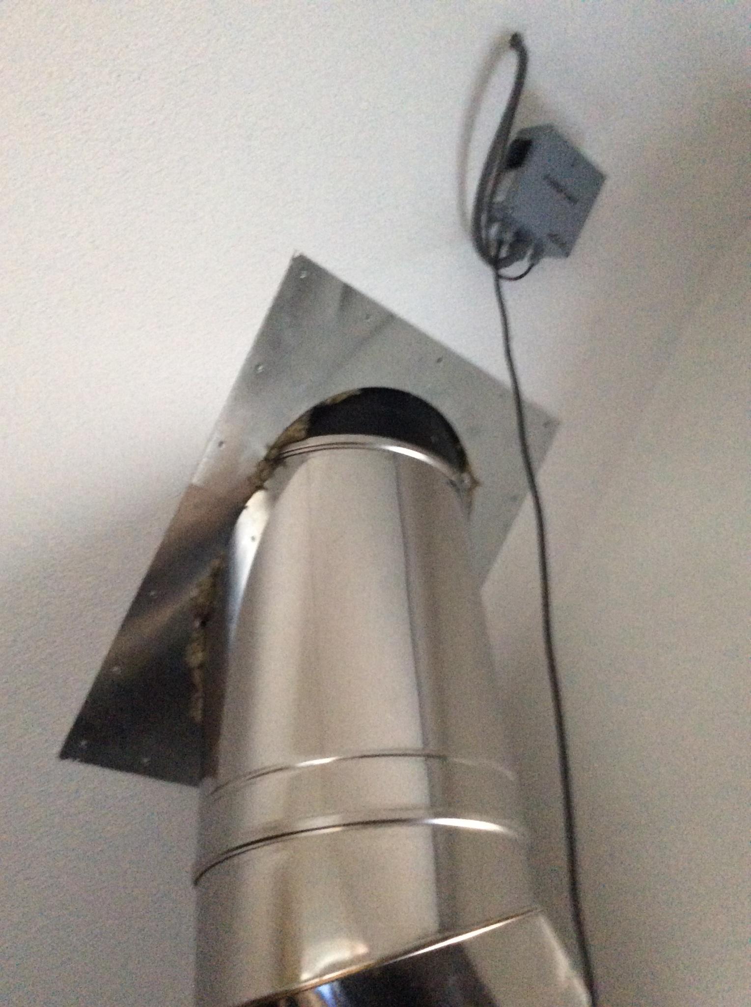 Extreem Rookgasafvoer van dak verwijderen en gat in dak dicht maken SL97