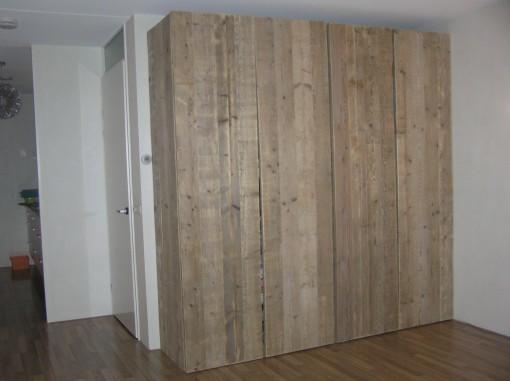 steigerhout ombouw kastenwand werkspot. Black Bedroom Furniture Sets. Home Design Ideas