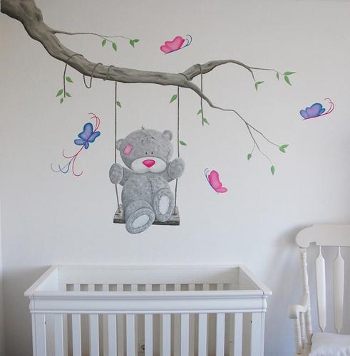 muurschildering babykamer - werkspot, Deco ideeën