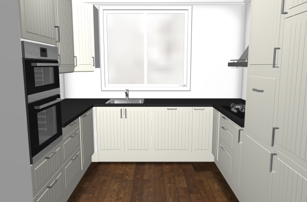 Keuken Landelijk Ramen : U keuken met raam