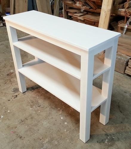 Witte sidetable met twee legplanken werkspot for Bureau 40 cm diep