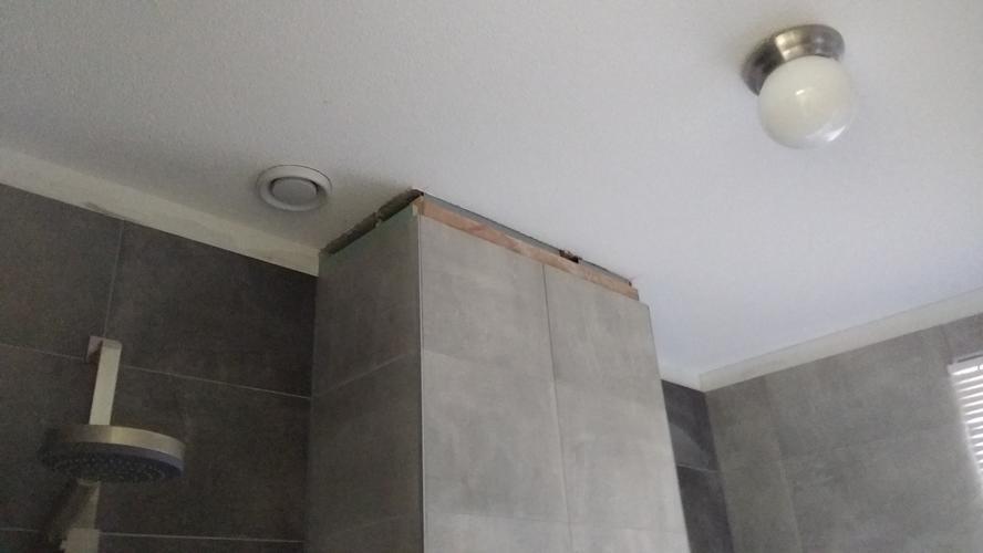 Naadloos Plafond Badkamer : Badkamer en wc verlaagd plafond met spotjes douchedeuren