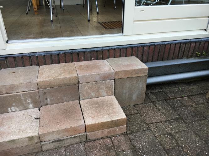 Aanleggen terras werkspot for Trap tuin aanleggen