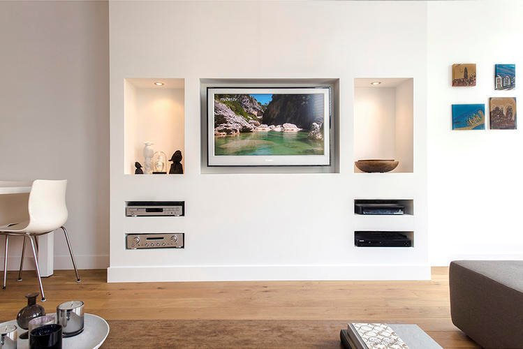 Maken tv wandkast inbouw werkspot for Tv wandkast