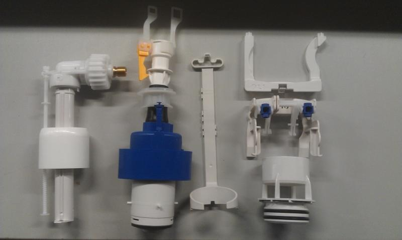 Onderdelen Hangend Toilet : Installatie compleet binnenwerk dual flush toilet werkspot