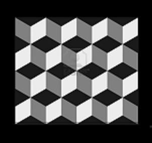Tegelvloer gang escher kubus werkspot - Tegelvloer patroon ...