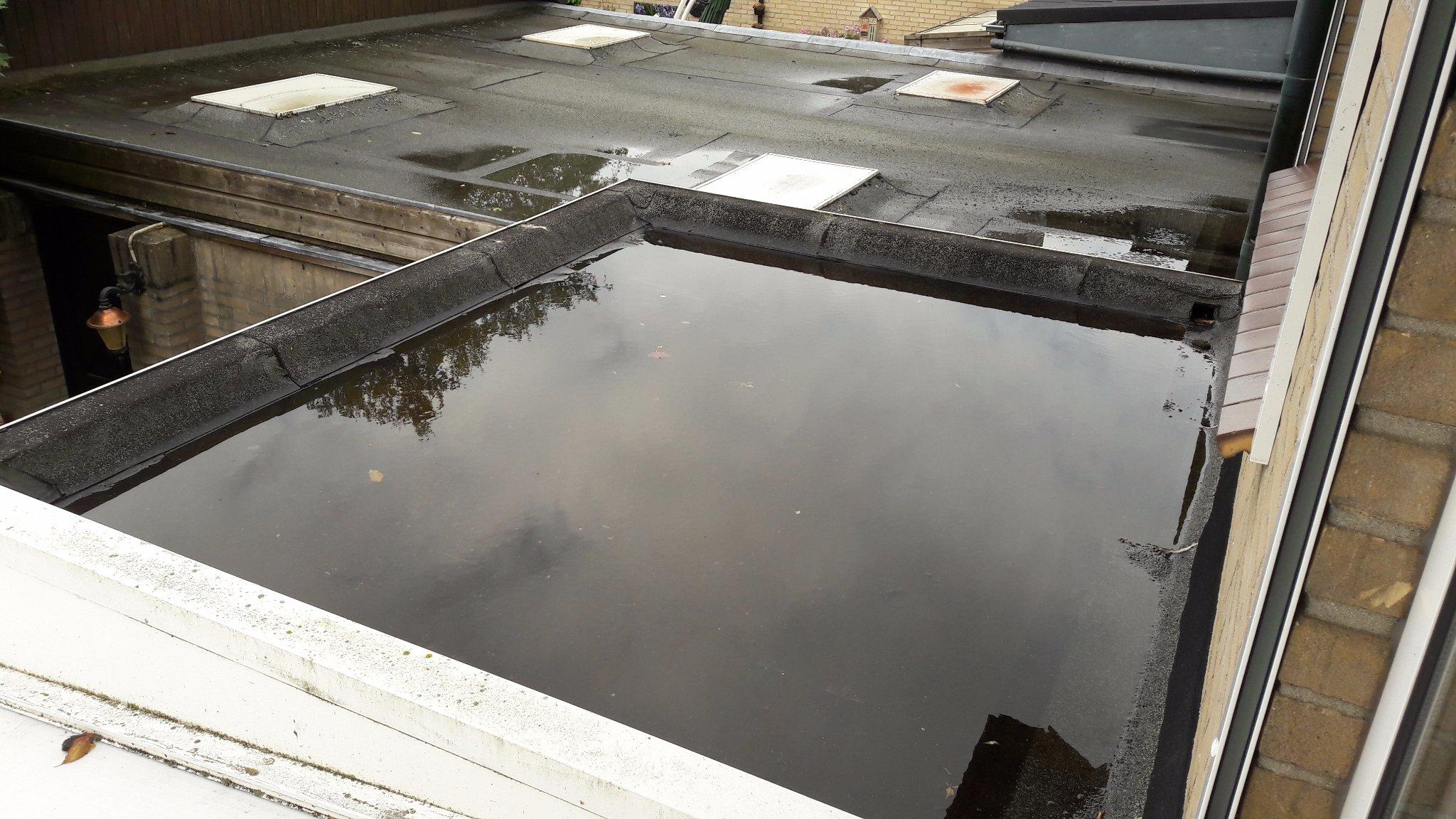 Maken nood overstort klein plat dak boven keuken werkspot