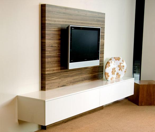 zwevend tv meubel met wandpaneel werkspot. Black Bedroom Furniture Sets. Home Design Ideas