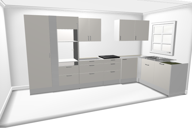 Ikea keuken l vorm met bovenkasten werkspot - Keuken ontwikkeling in l ...