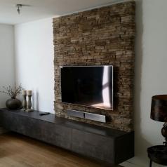 Verbazingwekkend 5 m2 steenstrips in midden muur plaatsen - Werkspot LP-94