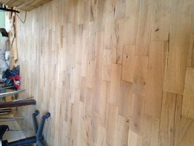 Eiken houten vloer onbehandeld schuren en hardwaxen werkspot