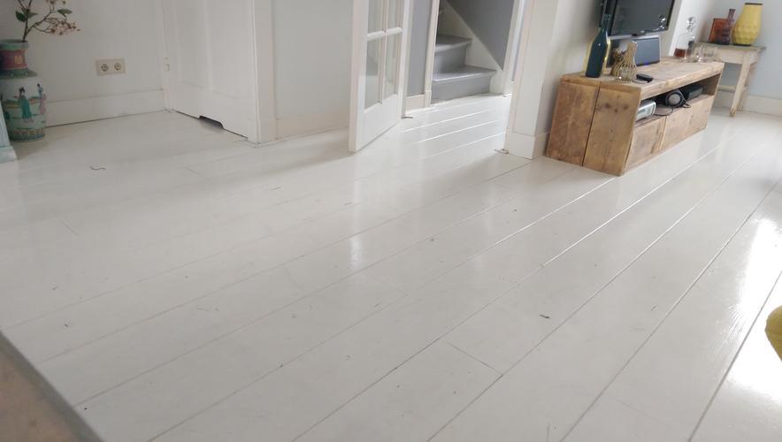 Geverfde houten vloer schuren archidev