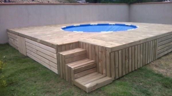 Populair houten ombouw zwembad maken in achtertuin - Werkspot @SY75