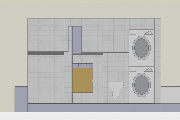 Hoogte Sierstrip Badkamer : Badkamer betegelen werkspot