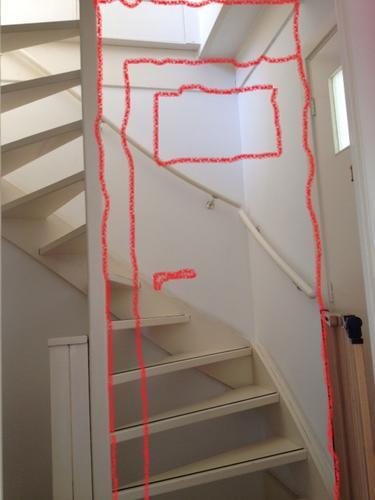 Open trap dichtzetten, kozijn+deur plaatsen - Werkspot