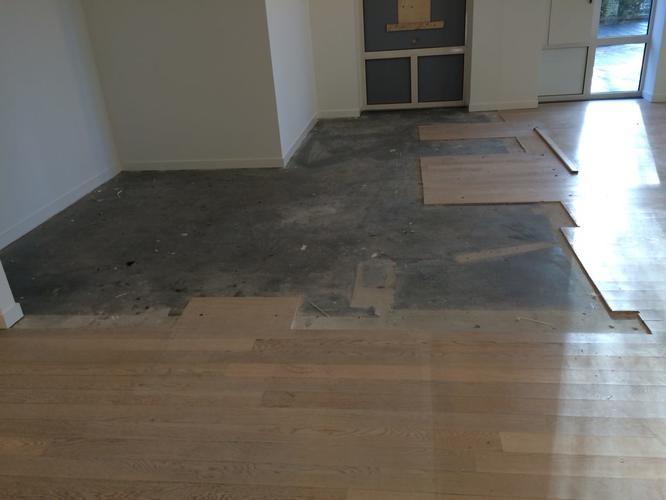 Betonvloer verven en laminaat inkorten   Werkspot