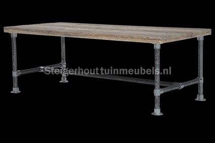 Steigerhouten Tafel Maken : Wie wil en kan een tafel van steigerhout en steigerbuizen maken