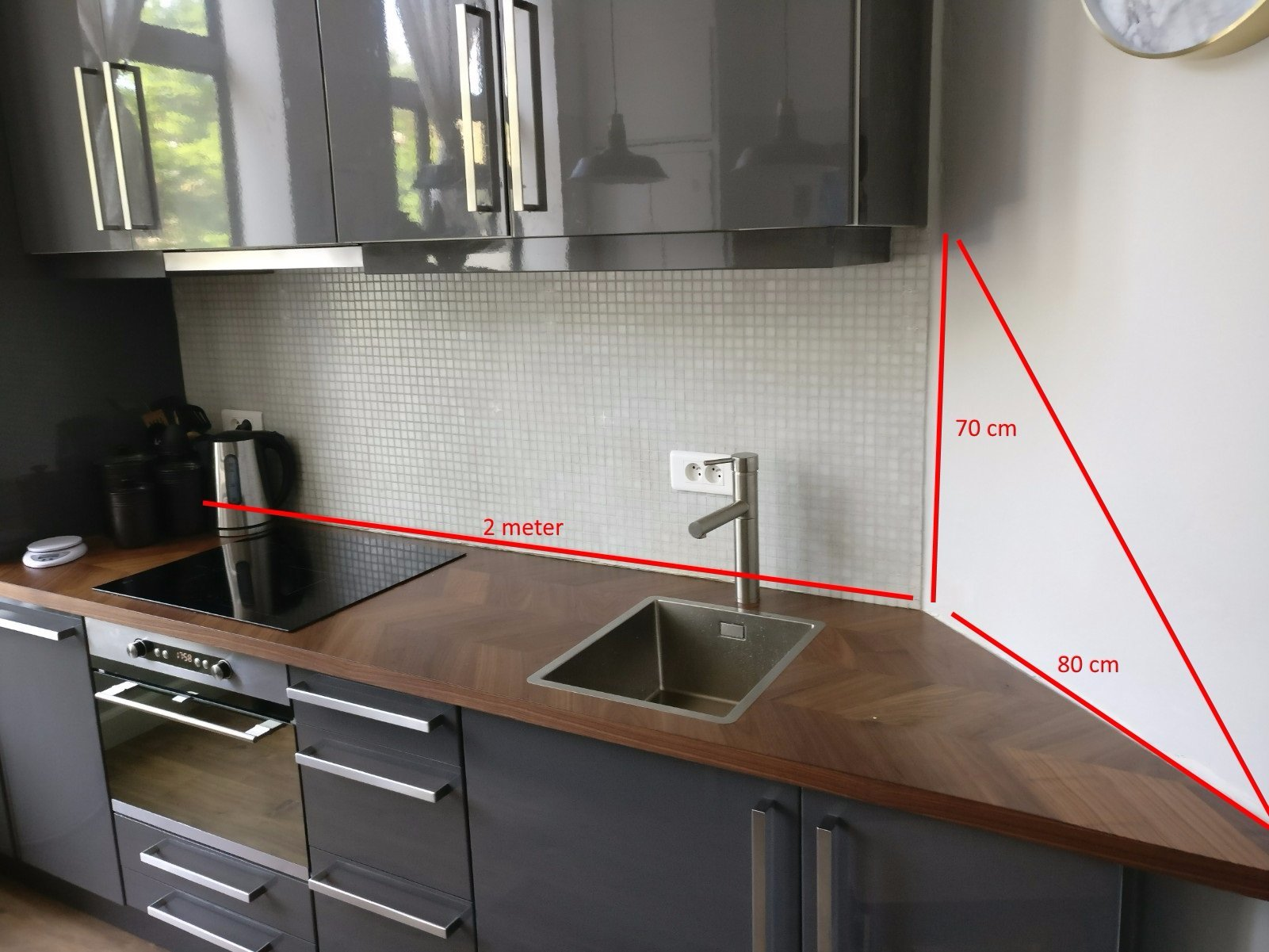 Muur Keuken Kleine : Tegelen muur keuken met kleine tegels werkspot