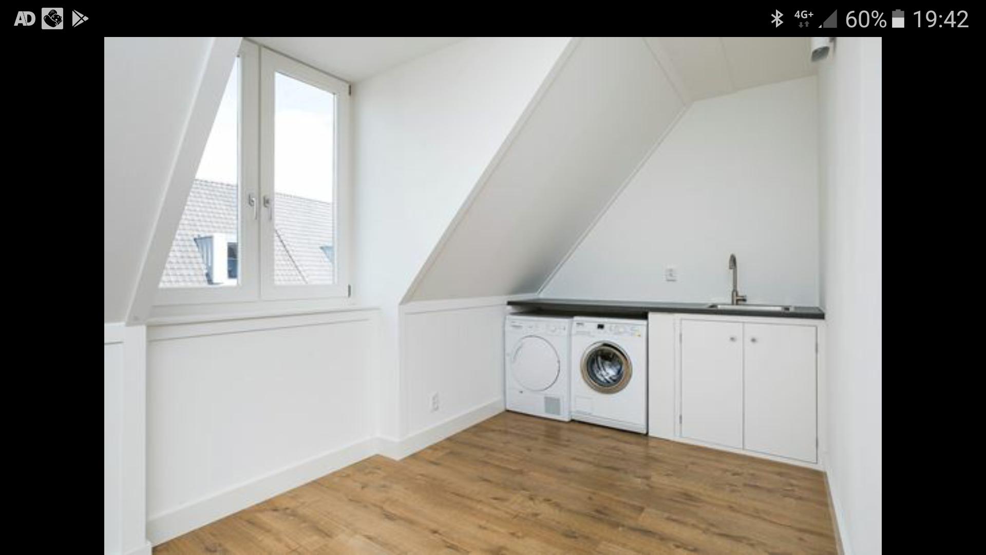 Realiseren kamer op zolder en een wasruimte met spoelbak en