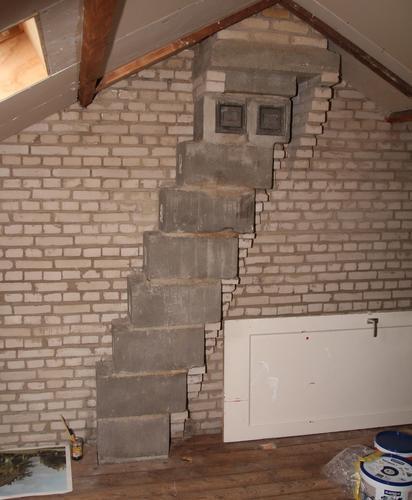 2 maal ombouw maken op een zolder  rondom schoorsteen  u0026 cv
