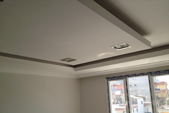 verlaagd plafond inclusief muurdoorvoer afzuigkap en