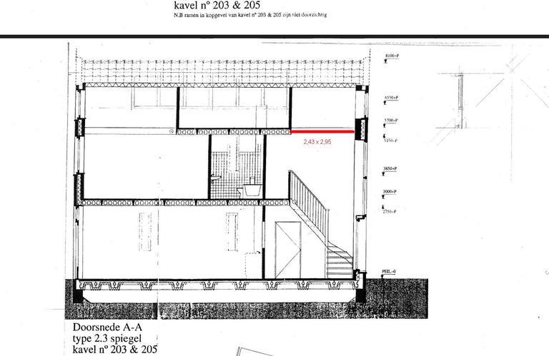 Aanbrengen extra vloer op 2e verdieping eventueel for Trap doorsnede