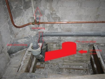 Afvoer hangend toilet werkspot