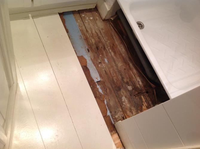 Badkamer Douche Vloeren : Douche op houten vloer