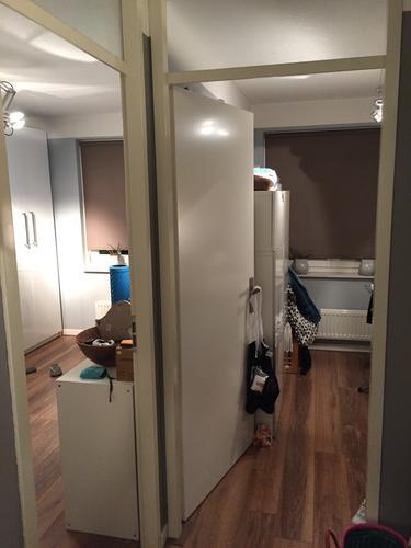 1 grote (slaap)kamer maken van 2 aparte kamers (bovenverdieping ...