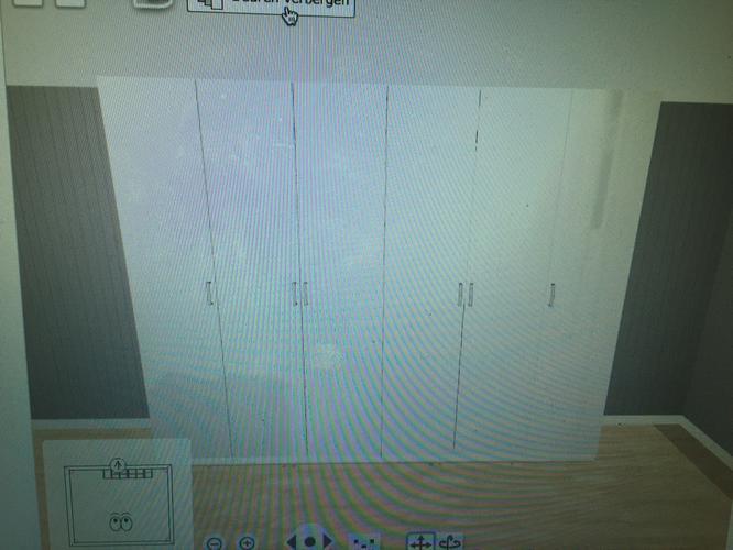 Kast Pax Ikea 3 Meter Met Scharnier Deuren En Verlichting