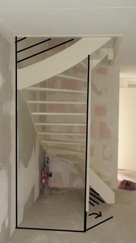 Open trap dichtmaken en trapkast maken