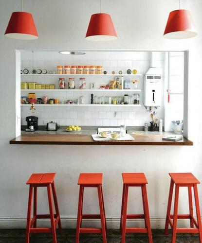 Gat in muur tussen keuken en woonkamer, afwerken als bar - Werkspot