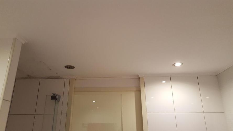 Badkamer douchevloer opnieuw betegelen,kitten en plafond witten ...