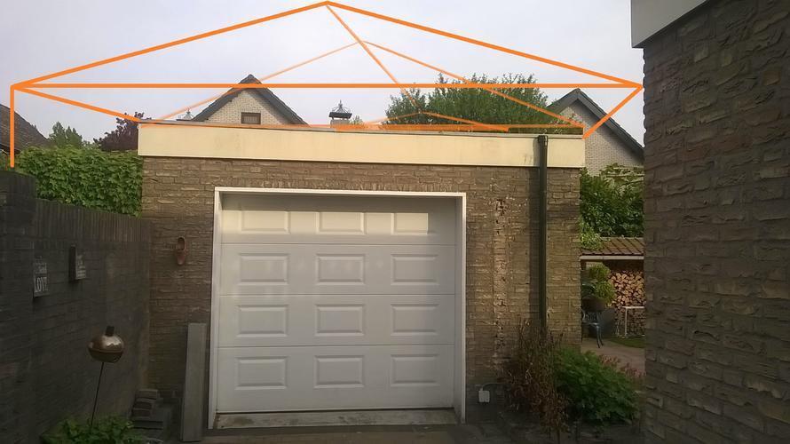 Dak Garage Vervangen : Vervangen bestaande dak garage inclusief aanleg afdak carport