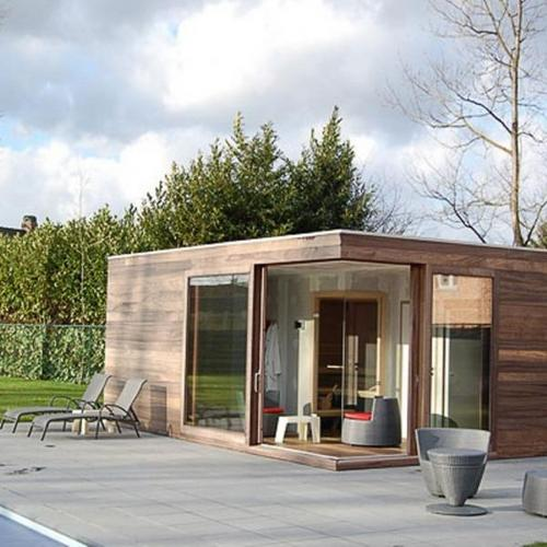 Bouw houten poolhouse 30 m2 werkspot for Houten zwembad bouwen