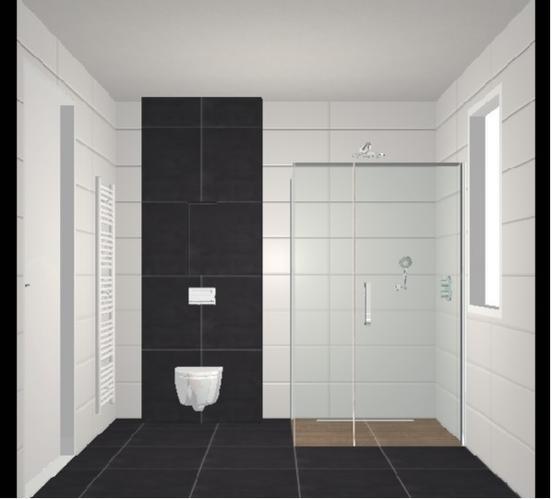 Betegelen badkamer en toilet begane grond in nieuwbouwhuis for Matte tegels