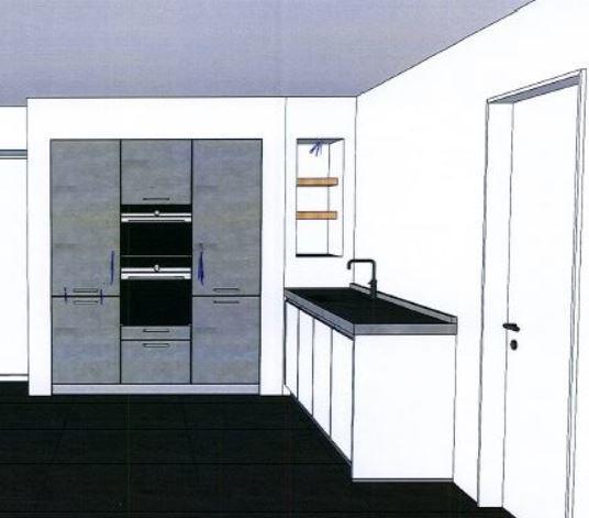 Koof om kastenwand keuken nieuwbouwwoning werkspot for Zelf keukenontwerp maken
